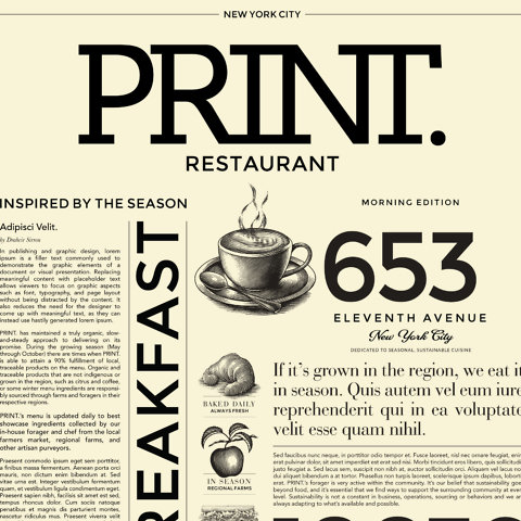 PRINT. Restaurant